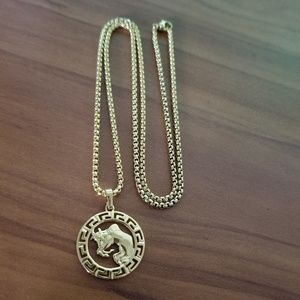 Taurus Zodiac Sign 18K Gold Filled Unisex Necklace